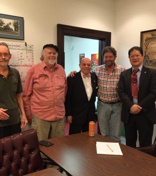Secretary/Treasurer Kim Foreman,  Board member Frank Mayes, Local 174-496 President Deacon John Moore, AFM President Ray Hair and Board member Peter Cho