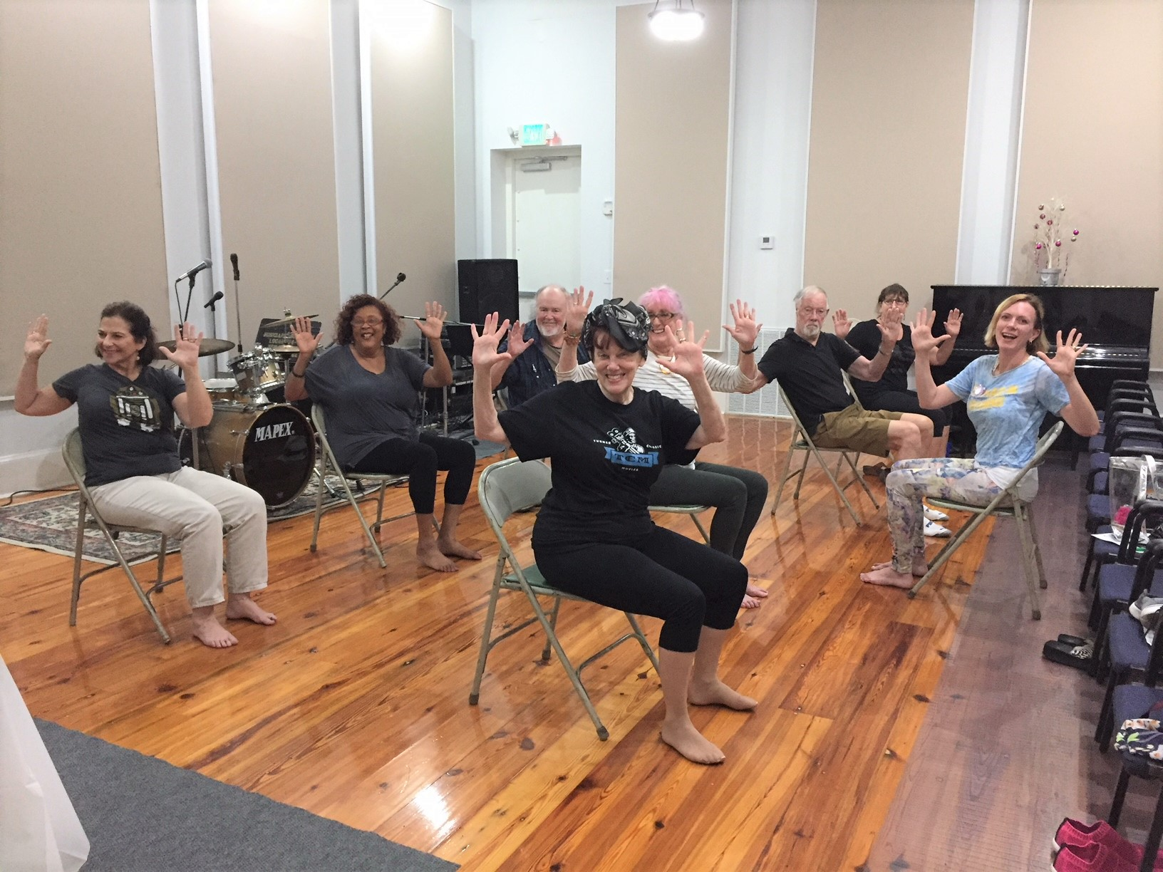Free Chair Yoga For Musicians Kicks Off New Orleans Musicians Union